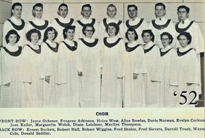 Scanned photo of 1952 yearbook of the choir