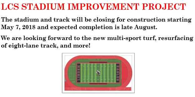 STADIUM AND TRACK CLOSING FOR CONSTRUCTION