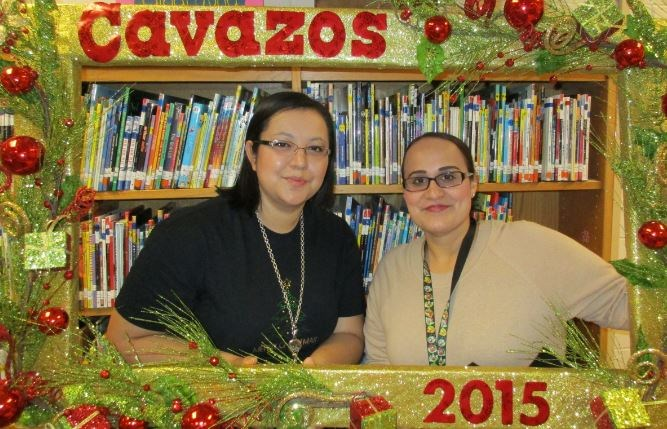 Librarian with clerk