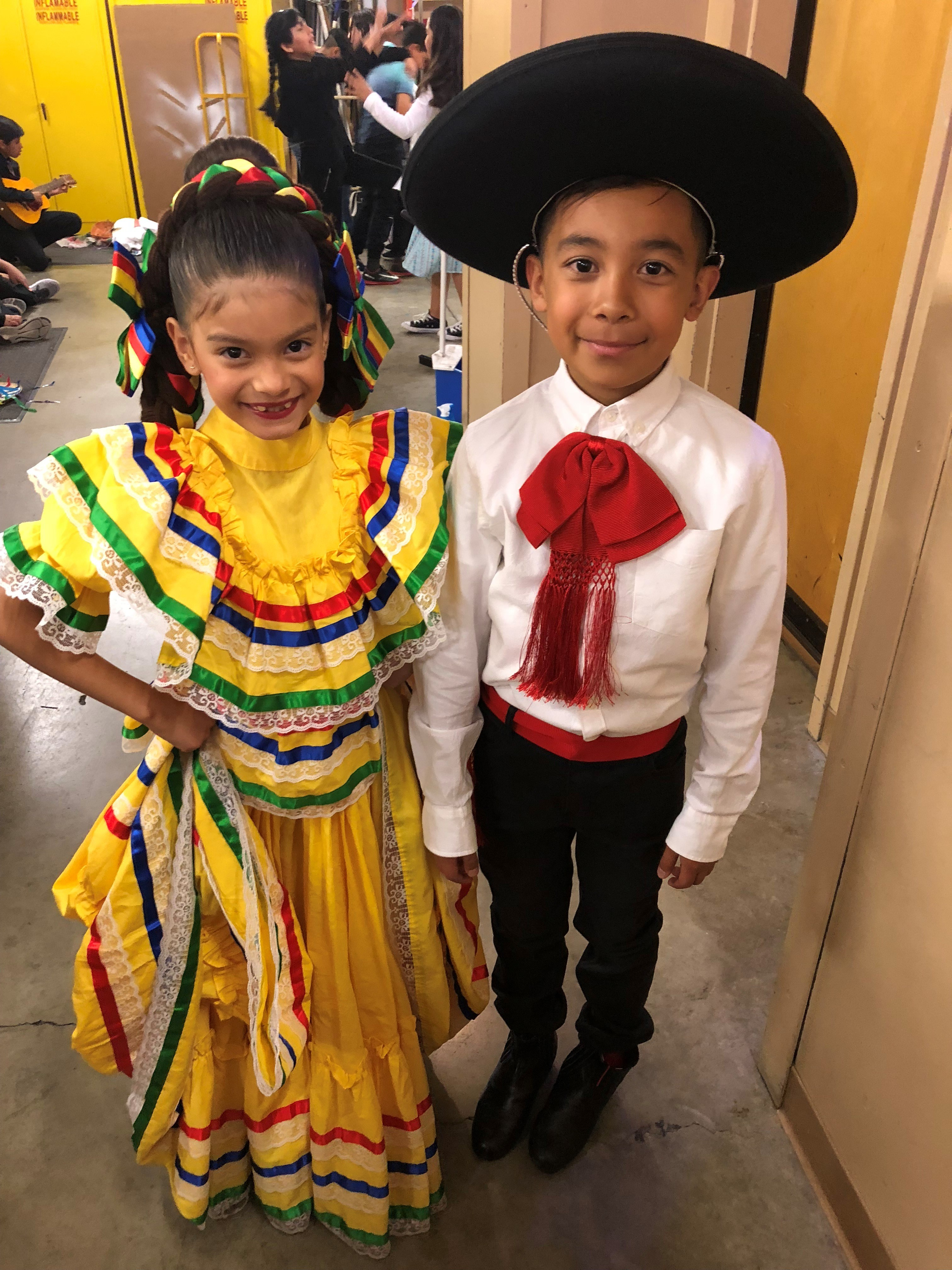 Two students before their performance