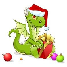 Christmas Dragon image