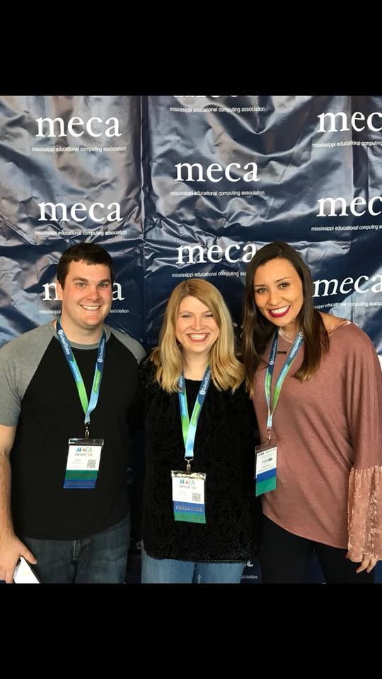 Mr. Cooper, Ms. Maxwell and Ms. Etheridge at MECA 2018
