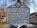 WV School for the Deaf and Blind historical landmark sign