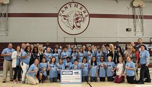 Titans Hometown Grant event at Smyrna Middle School