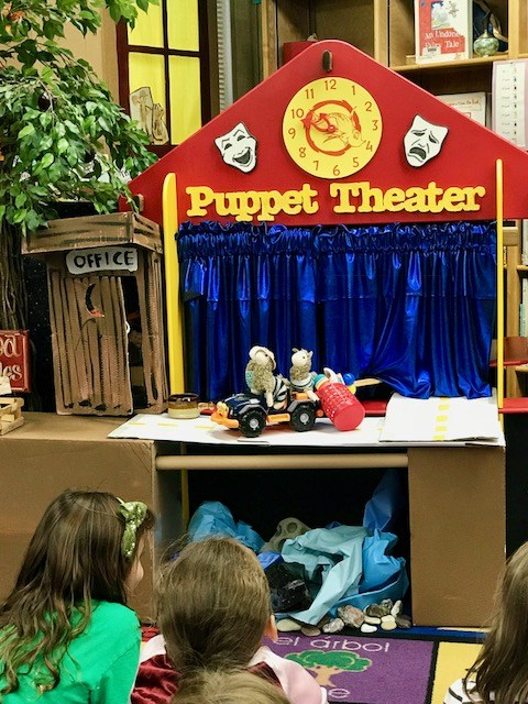 Three Silly Billies puppet theater.