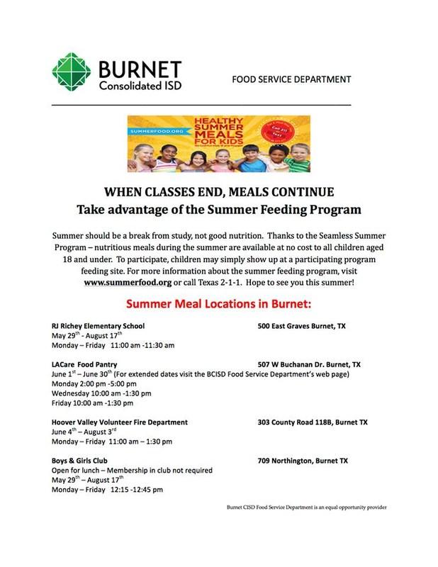 Take Advantage of the Summer Feeding Program Thumbnail Image