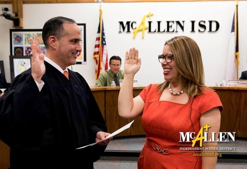 Debbie Crane receiving her oath