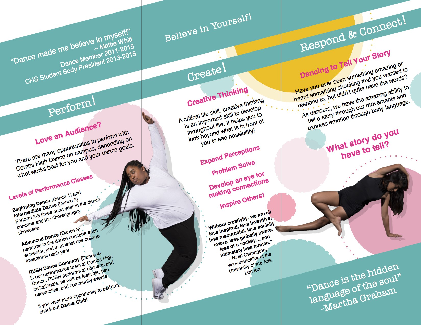 Combs High School Dance Promotional Flyer page 2
