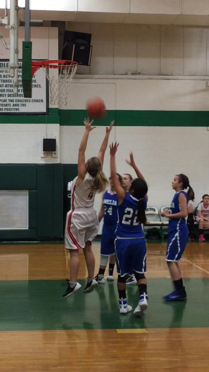 7th grade girls basketball player