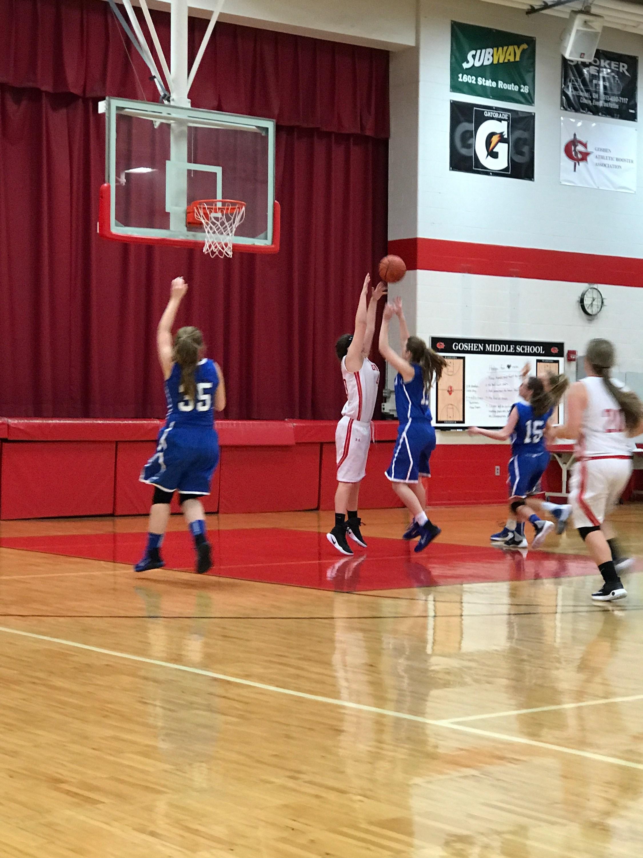 8th grade girls basketball player Gaby Maco