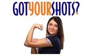 picture of student getting a shot