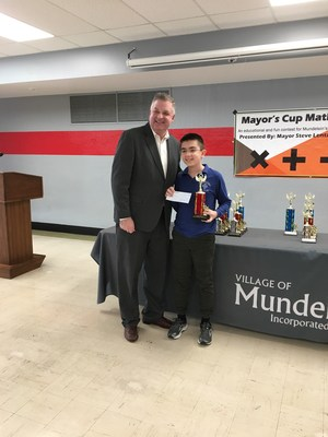 Caleb Beversdorf with Mayor Lentz