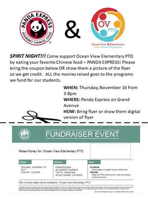 Panda Express Spirit Night