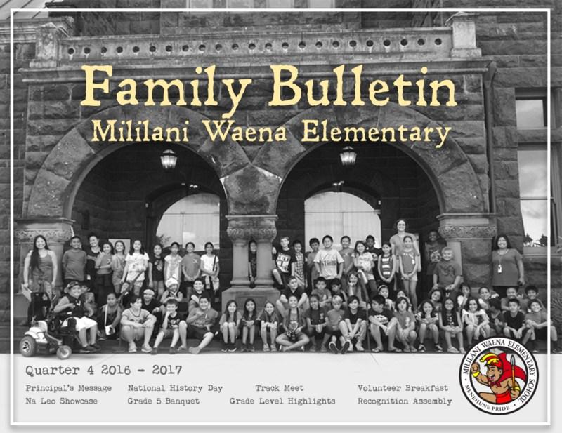 Quarter 4 Family Bulletin Thumbnail Image