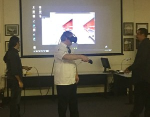 Chef Ramsey looking at our new kitchen through virtual reality