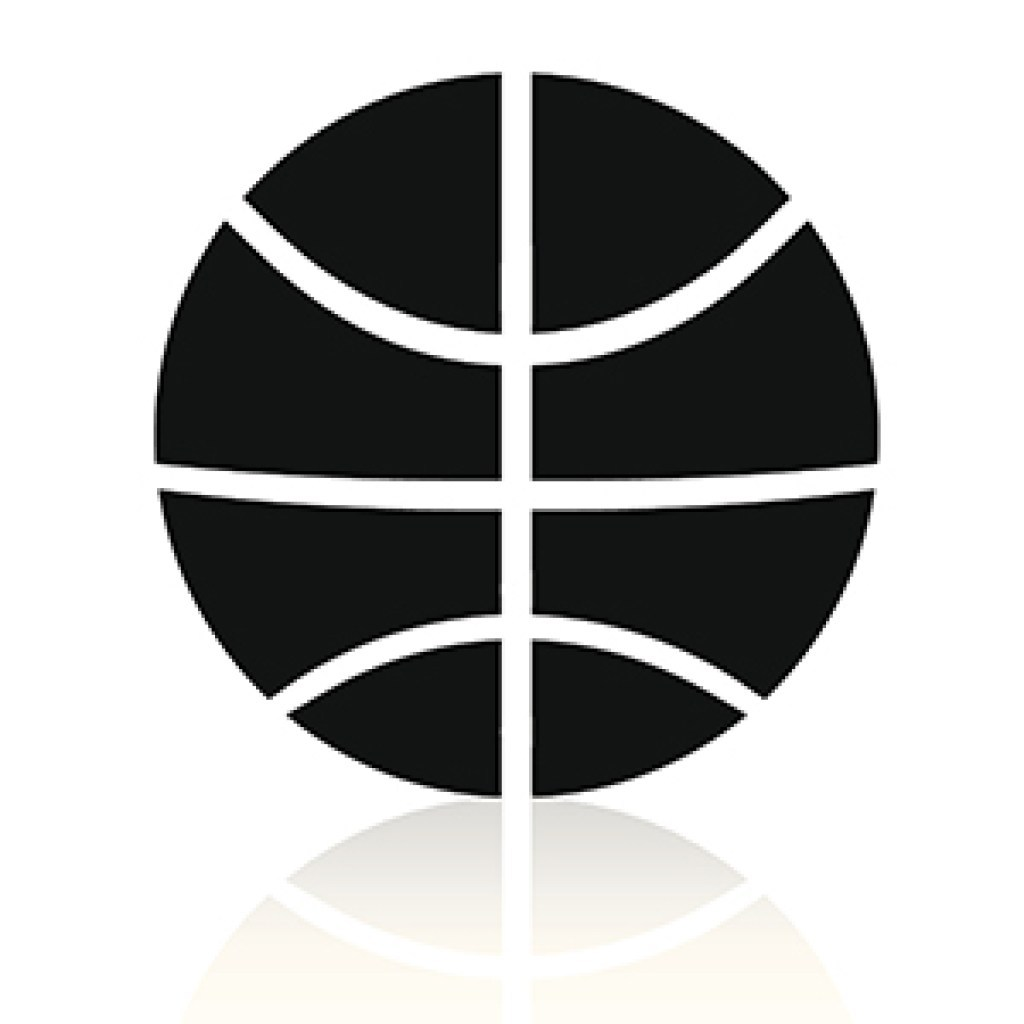 basketball black and white graphic