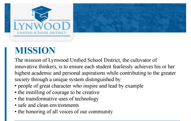 LUSD Mission Statement