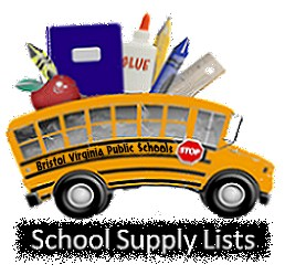 School bus filled with school supplies