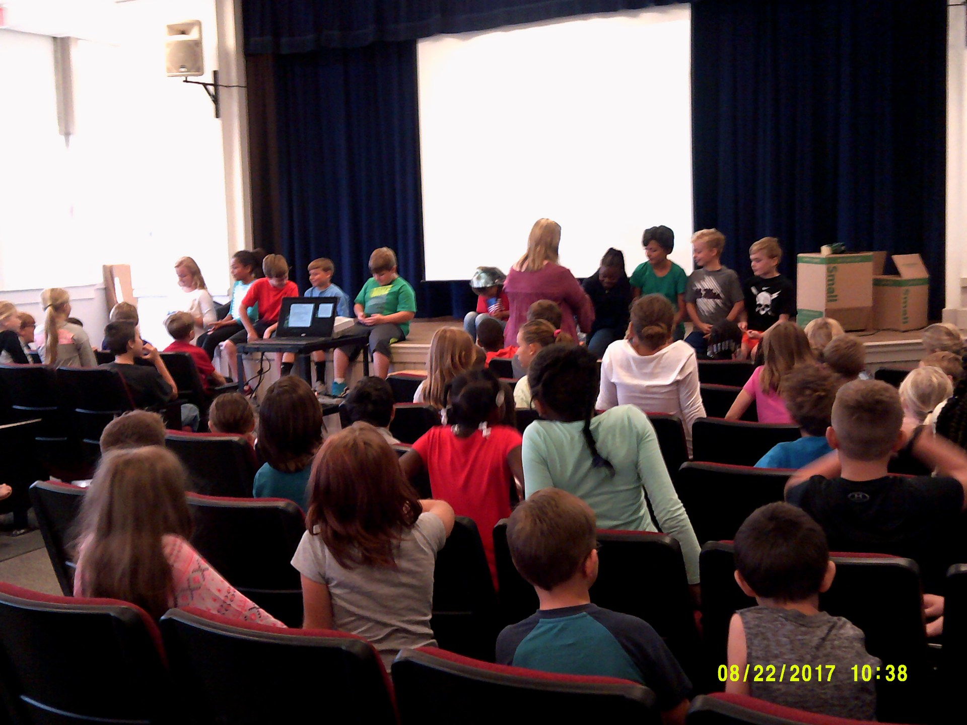 students in assembly