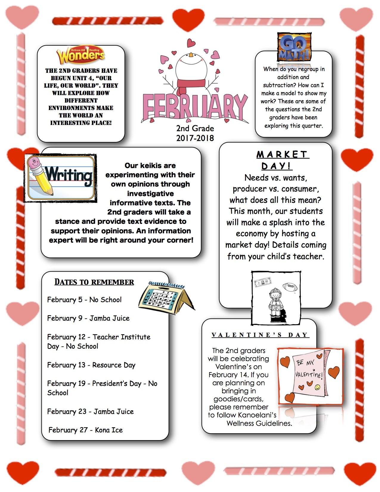 elementary news letter