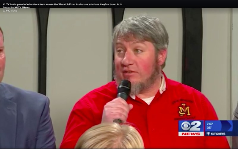 Judge Memorial Principal Patrick Lambert Takes Part of KUTV Town Hall Discussion Featured Photo