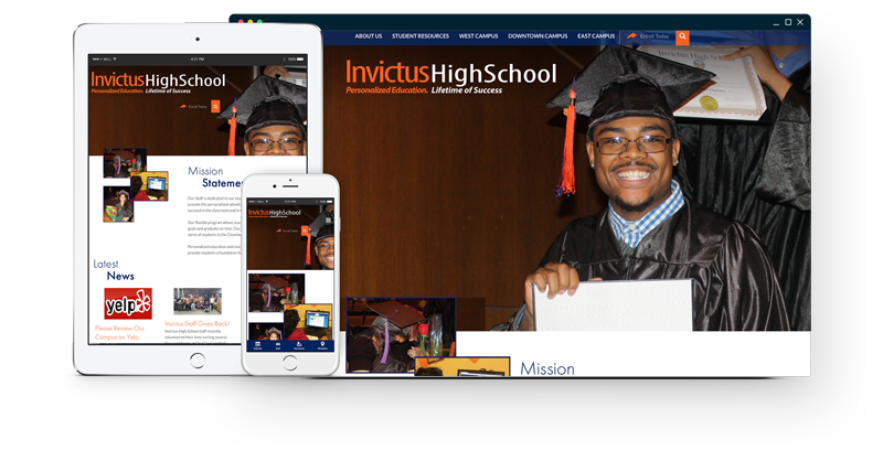 Invictus High School Website
