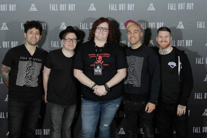 Meeting my favorite band