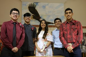 Group picture of the Mission High School students who earned AP Awards.