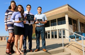Pictured from left to right is Criminal Justice Club advisor Nicolette Dowling and club members Nayla Mendrano, Rudy Vazquez and Oscar Porto.