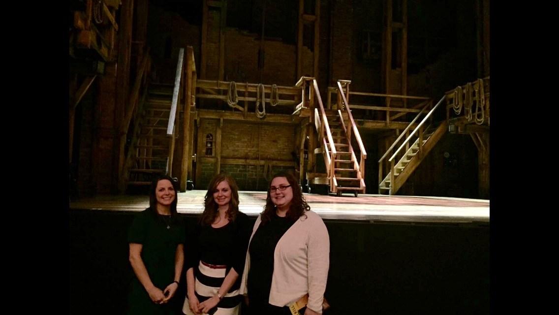 Backstage at Hamilton with Ms. Smolak and Ms. Kitchka