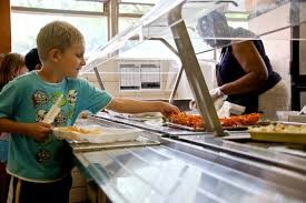 image of boy in lunch line