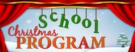 Christmas Program Sign
