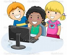CHILDREN LOOKING AT COMPUTER