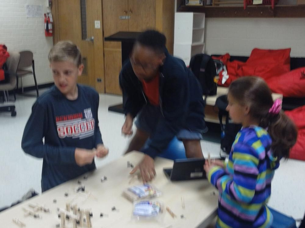 HOPE Group Students Working Through Engineering Challenge 7